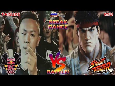 """(Ad / Commercial) Ryu Breakdance VS Taisuke: """"Red Bull BC VS Street Fighter""""."""
