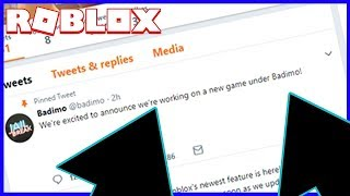 BADIMO IS MAKING A NEW GAME!!! (Roblox)