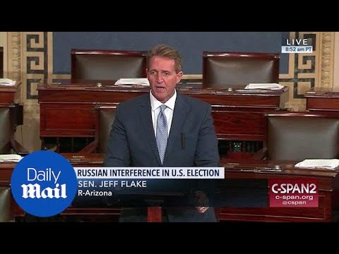 Sen. Jeff Flake says Trump gave 'aid and comfort' to Putin - Daily Mail