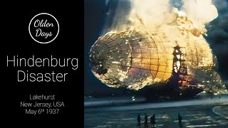 Hindenburg Disaster in 1937 - [60FPS - Color - 4K] - Old footage restoration with AI