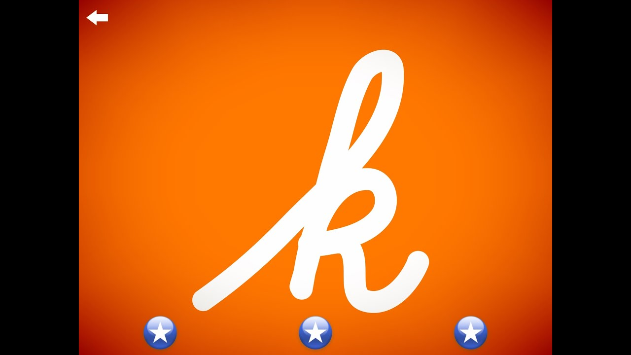 The letter k - Learn the Alphabet and Cursive Writing!