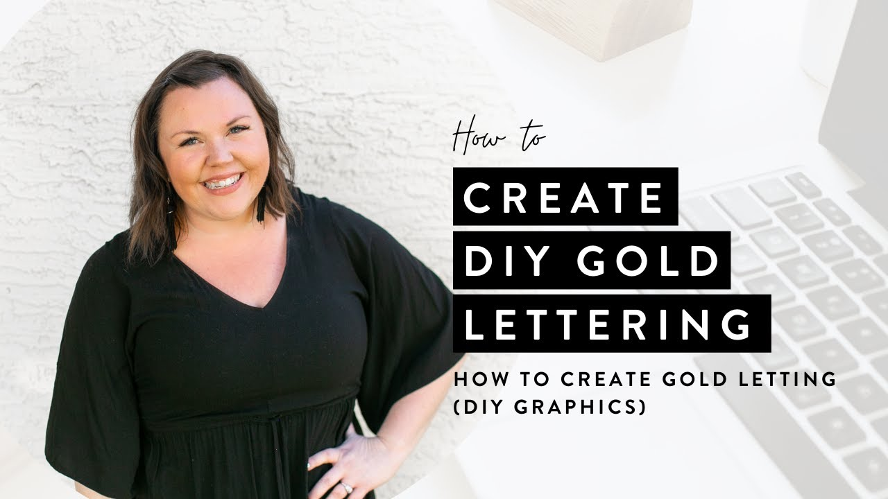 How to Create Gold Lettering