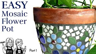 Video DYI Easy Mosaic Ceramic Flower Pot, part 1 download MP3, 3GP, MP4, WEBM, AVI, FLV Oktober 2019