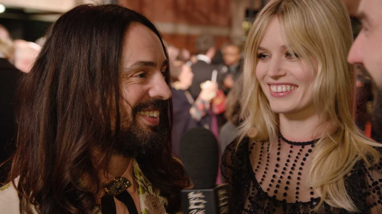 1340a208d86 Alessandro Michele Red Carpet Interview - British Fashion Awards 2015