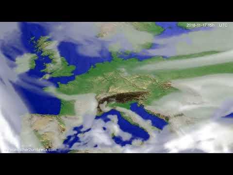 Cloud forecast Europe 2018-11-15