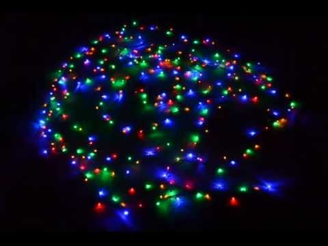 christmas lights 300 multi color led lights with eight function controller youtube
