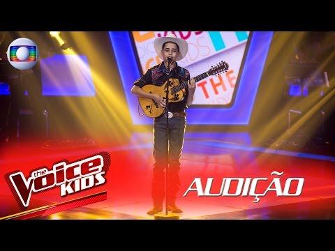 Lucas Viola canta 'O Campeão' na Audição –  The Voice Kids Brasil | 2ª Temporada