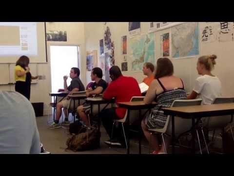 USA Russian lesson in American university