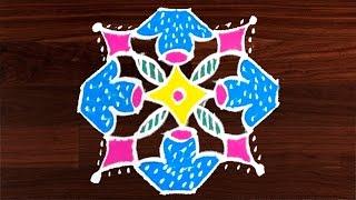 Video #404 kolam designs with 8x2x2 dots || simple muggulu designs || easy rangoli art designs by sunitha download MP3, 3GP, MP4, WEBM, AVI, FLV Juli 2018