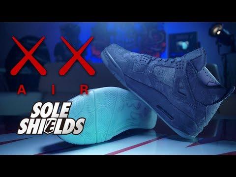 Applying Sole Shields to KAWS 4's