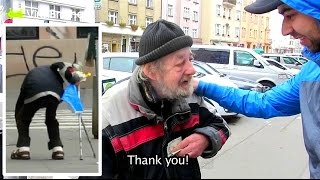 Repeat youtube video Homeless Gets $1000 For His Honesty (Wallet Theft Experiment)