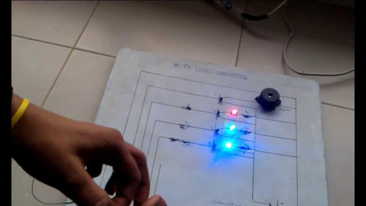 Simple Optical Sensor Circuit Alarm Water Level Indicator