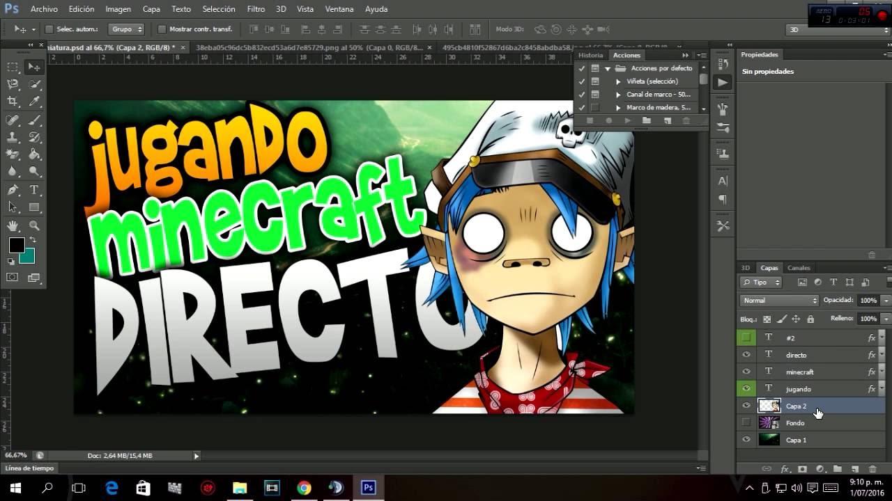 Como Hacer Miniaturas Para Youtube Con Photoshop Cs6 Muy