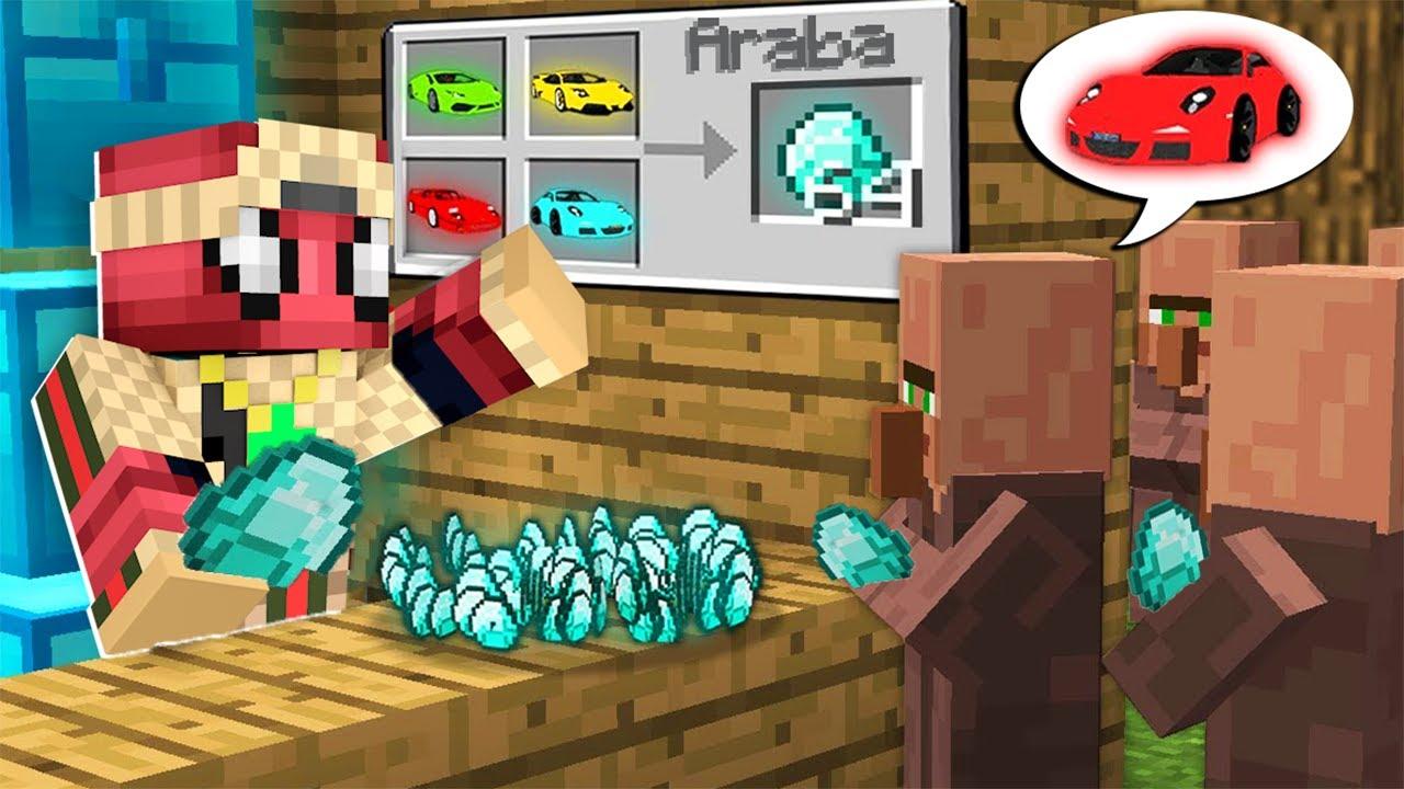 FAKİR MİLYONER ARABA SATICISI OLDU! 💸🤑 - Minecraft