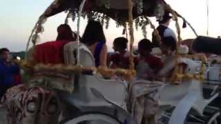 Angeli Carriages - Indian Wedding - Bridal Entrance in Horse-Drawn Carriage