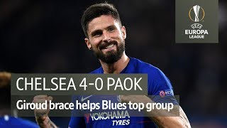 Chelsea vs PAOK (4-0) | UEFA Europa League highlights