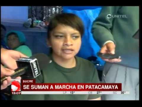 Discapacitados de Sucre se unen a la marcha que se dirige hasta La Paz