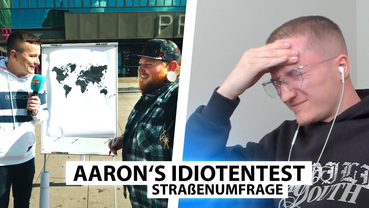 Justin reagiert auf Idiotentest mit Weltkarte.. | Reaktion