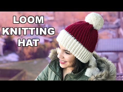 LOOM KNITTING HAT FOR BEGINNERS! | CJ Design ♡ Mp3