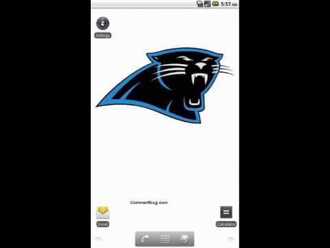 Carolina Panthers live wallpaper app by commentbug.com - YouTube