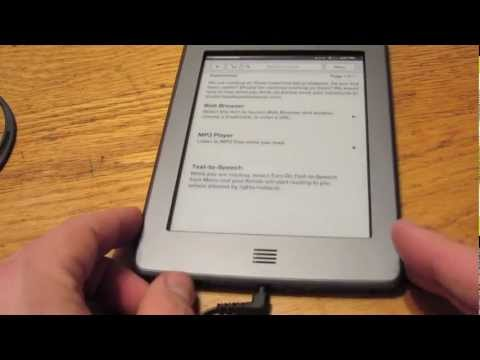Kindle Touch MP3 Player - one more thing to love about the Kindle