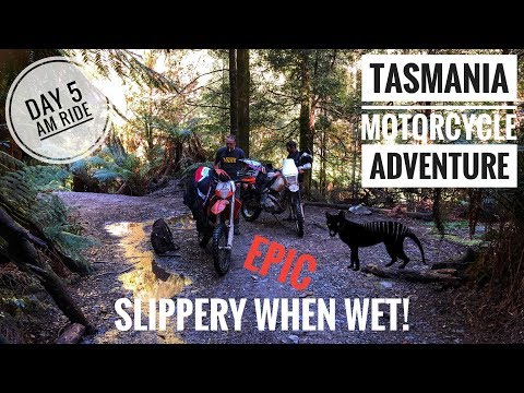 Motorcycle Adventure Ride Tasmania. Day 5. (North East Dundas Tramway)