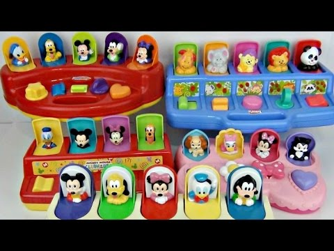 5 Pop Up Mickey Minnie Mouse & Animal Characters   Learning Through Playing
