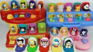 5 pop up toys learn colors numbers with disney jr mickey mouse clubhouse animals minnie tuyc