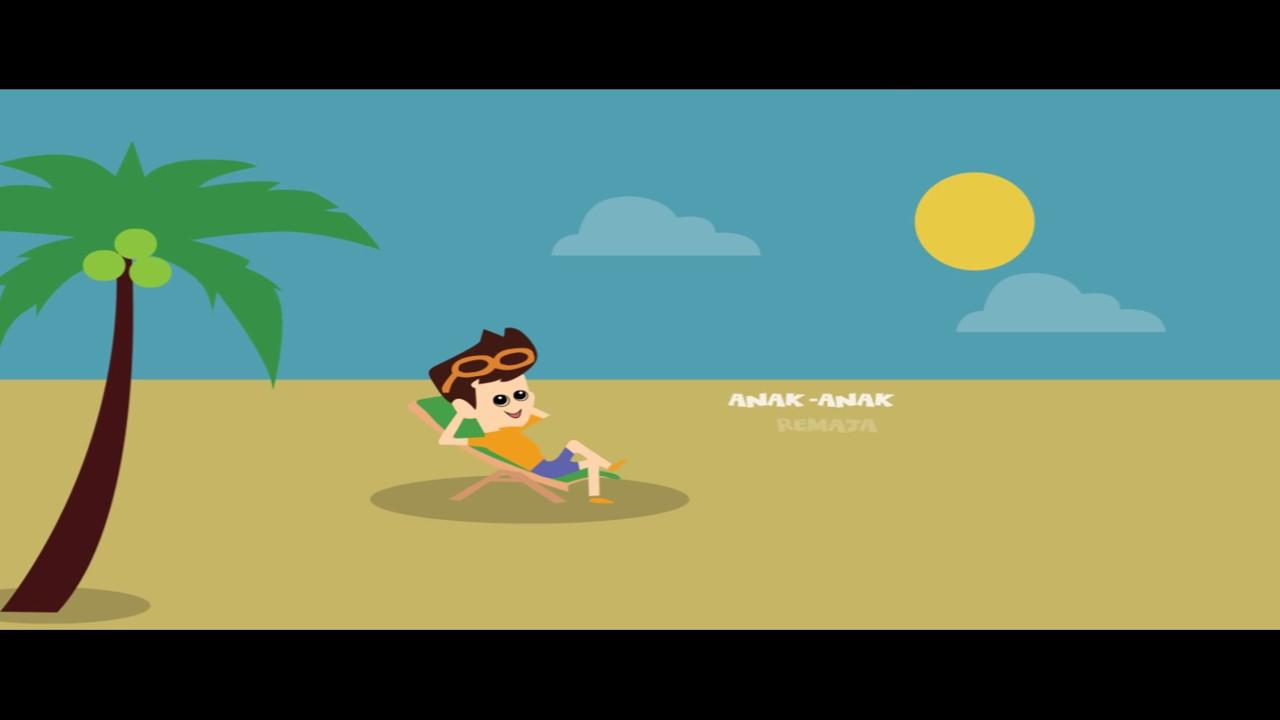 Jaga Kelestarian Pantai Animasi YouTube