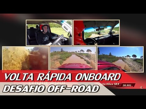 CHEVROLET S10 X FORD RANGER X TOYOTA HILUX - DESAFIO OFF-ROAD - VR ONBOARD | ACELERADOS