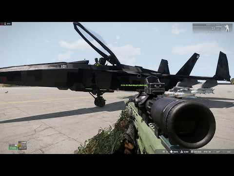 Arma 3 - Jet vs tank shark attack diving connection issues