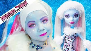 Monster High Abbey Bominable Doll Costume Makeup Tutorial for Halloween or Cosplay