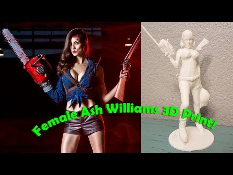 Female Ash Williams - Ash VS The Evil Dead - 3D Print Sculpture