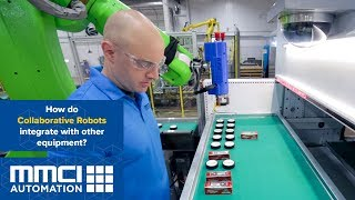 How do collaborative robots integrate with other equipment?