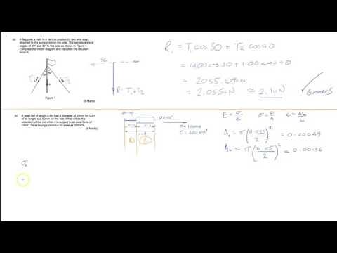 HNC Mechanical Engineering Q1 - Applied Maths Exam (2015)