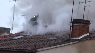 Incendie à Albi - Les pompiers en action - 26.11.2012
