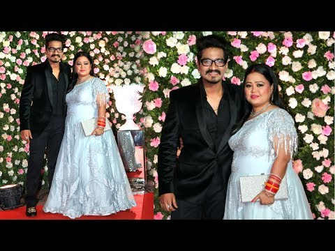 Bharti Singh with Hubby Haarsh Limbachiyaa At Kapil Sharma and Ginni Wedding Reception