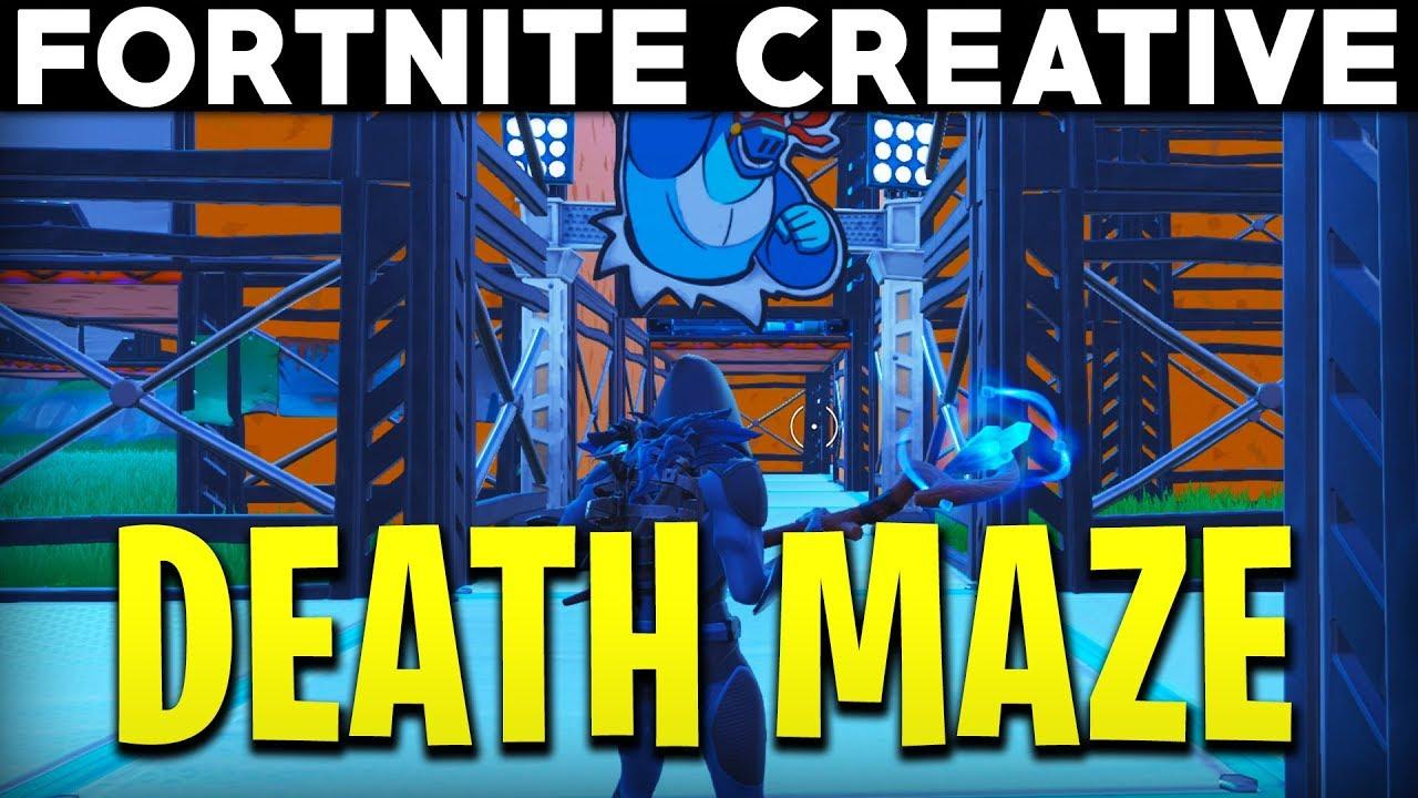 fortnite creative mini game death maze challenge fortnite creative island showcase - maze codes fortnite
