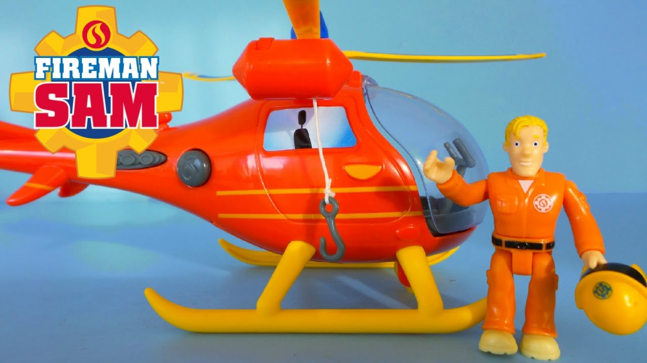 Best Fireman Sam Toys Kids : Fireman sam unboxing toy helicopter wallaby with pilot tom