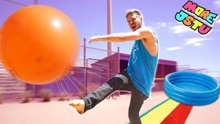 EPIC SLIP AND SLIDE KICKBALL GAME!