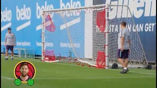 This is how Barça takes aim for target practice