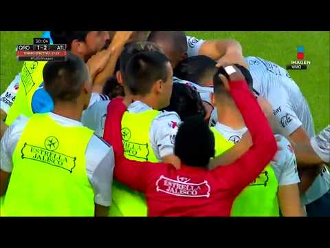 Gol de O. Martínez   Querétaro 1 - 2 Atlas   LIGA Bancomer MX - Clausura 2019 - Jornada 1