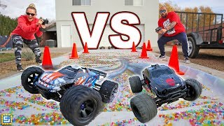 RC CARS vs ORBEEZ SLIME!!