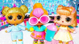 Куклы ЛОЛ на пижамной Вечеринке! - Видео распаковка Лол куколки – Новые игры для девочек.