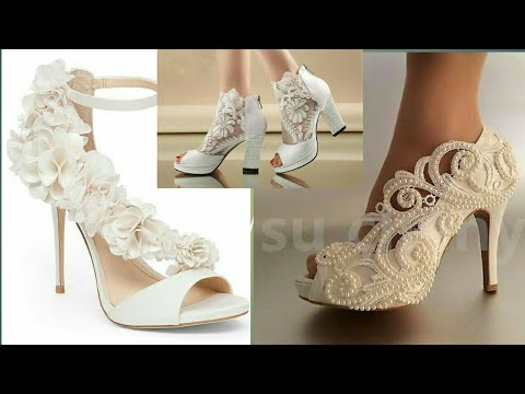 BEAUTIFUL LACE & PEARLS WEDDING HIGH HEEL SANDALS || 2019 BRIDAL SHOES