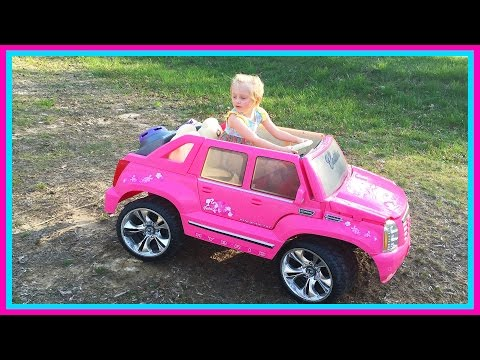 Thumbnail: Barbie Power Wheels Ride On Car & Step 2 Roller Coaster Toys for Kids W/ Pink Supergirl Superhero