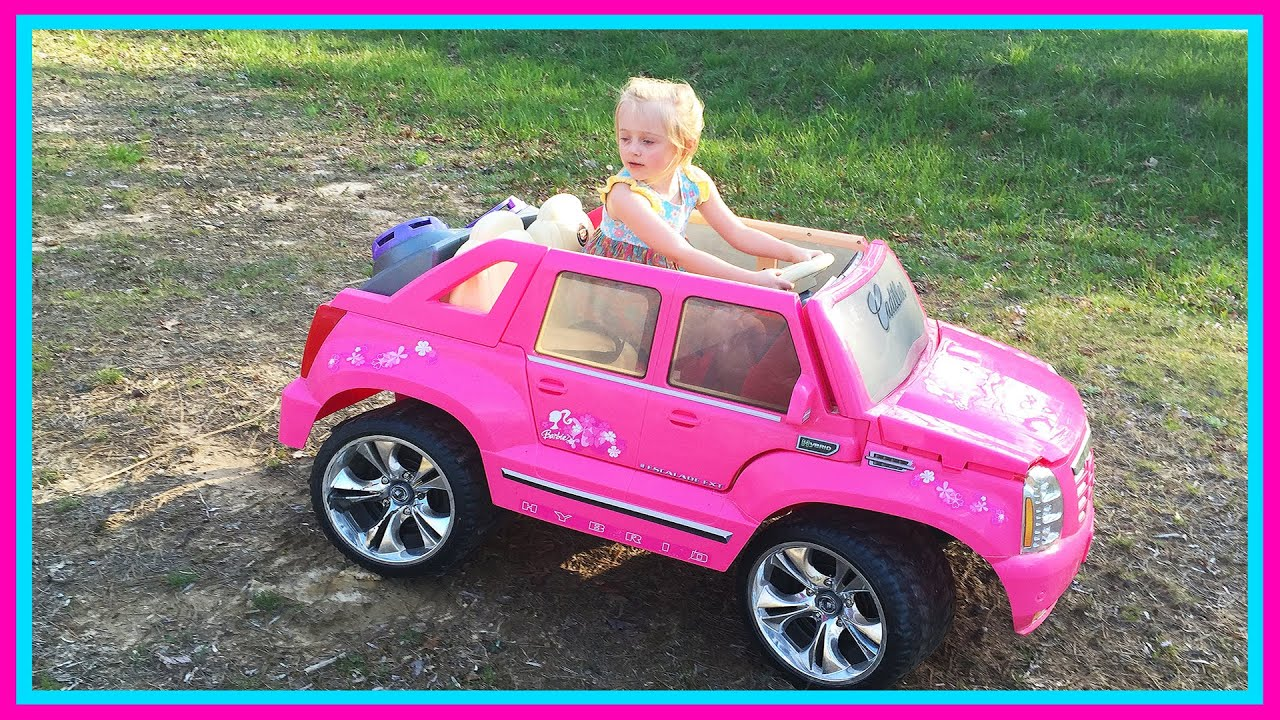 Barbie Power Wheels Ride Car & Step 2 Roller Coaster Toys for