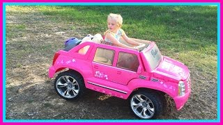 Barbie Power Wheels Ride On Car & Step 2 Roller Coaster Toys for Kids W/ Pink Supergirl Superhero thumbnail