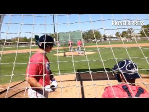 Video 3: Byung Ho Park tracks pitches from Tommy Milone during first day of live BP. #MNTwins