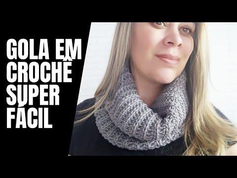 GOLA EM CROCHÊ MAIS FÁCIL DO MUNDO!!DIANE GONÇALVES